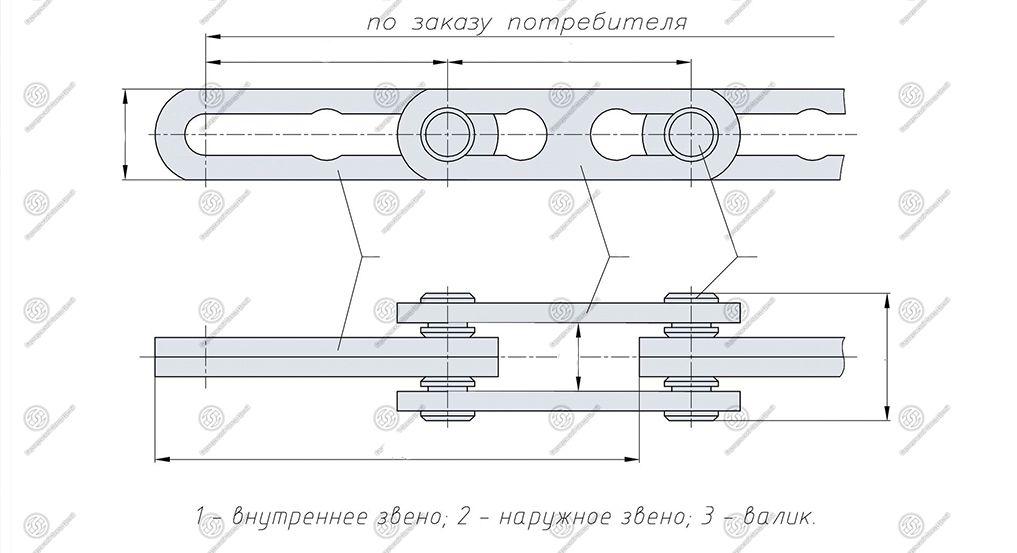чертеж цепи тяговые разборные